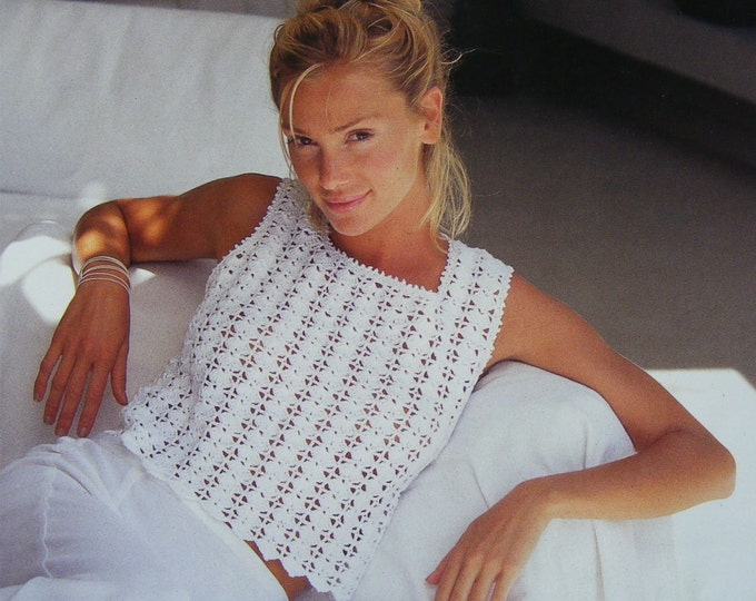 Womens Top Crochet Pattern PDF Ladies 30 - 32, 34 - 36, 38 - 40 & 42 - 44 inch bust, Crochet Patterns for Women, e-pattern Download