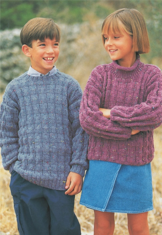 Sweater Knitting Pattern Pdf Boys Or Girls 20 22 24 26 28 Etsy