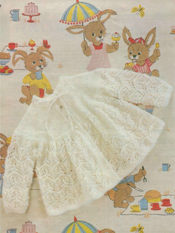 Baby Matinee Coat Pdf Knitting Pattern Babies Boys Or Girls 17 18