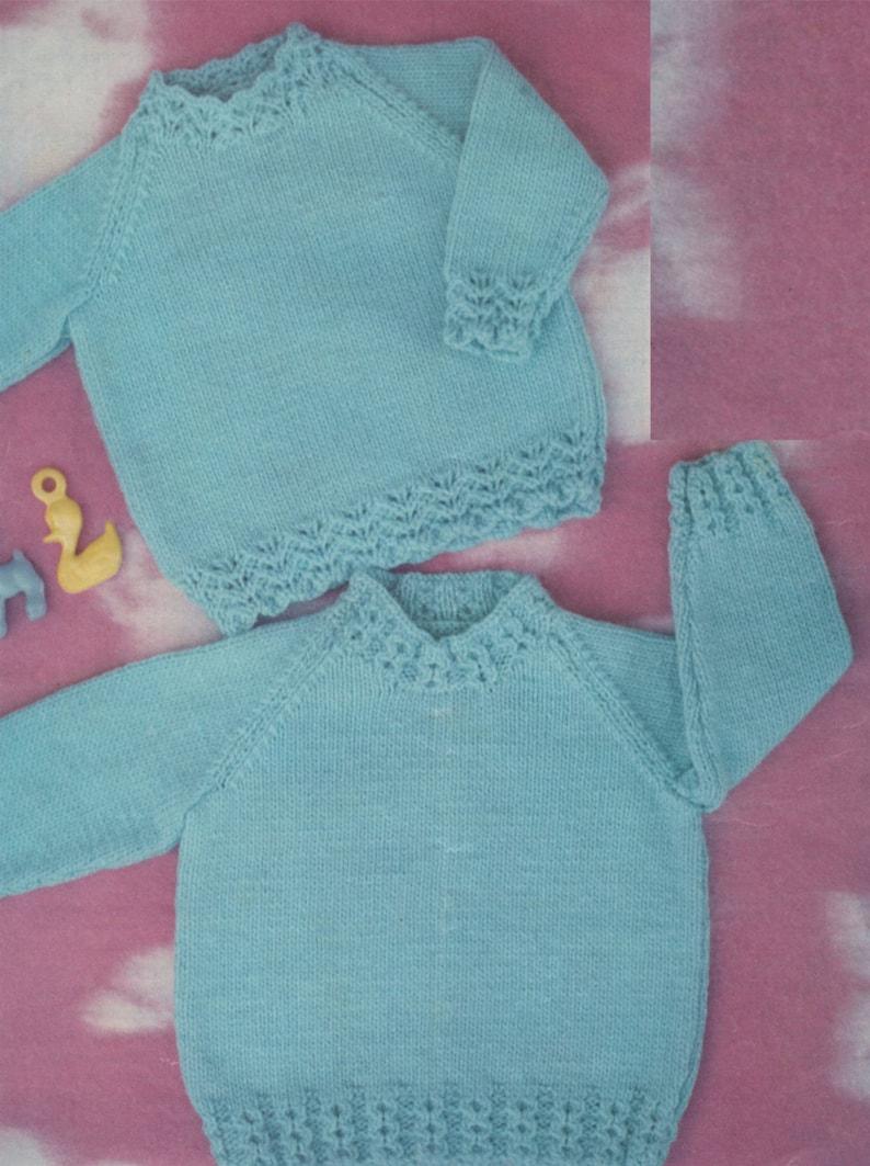 b7ee3f3ff Baby Sweater PDF Knitting Pattern . 2 Designs . Babies Boy or