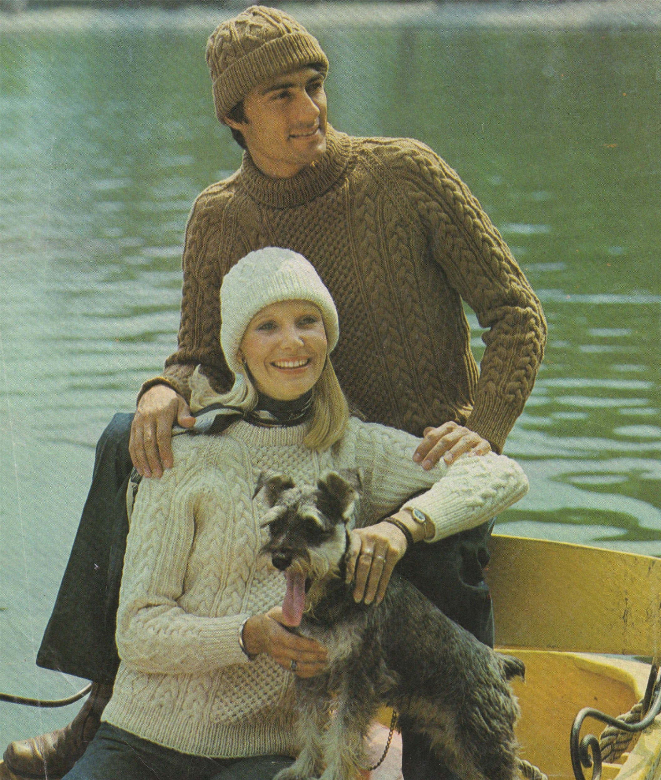 7be33c1a46cd Aran Sweater and Hat Knitting Pattern PDF Womens and Mens 34