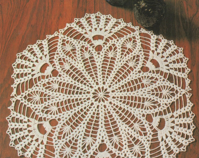 Doily Crochet Pattern PDF with Chart, Doily Mat, Placemat, Table Mat, Vintage Crochet Patterns for the Home, e-pattern Download