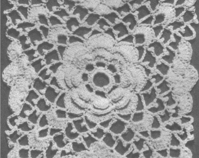 Lacy Rose Bedspread Irish Crochet Pattern PDF, Crochet Bed Cover, Vintage Crochet Patterns for the Home