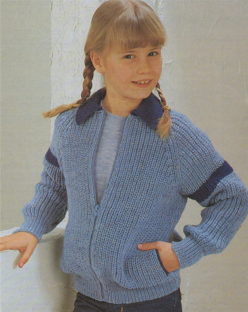 8a9ff72d20f5 Cardigan Knitting Pattern PDF Boys and Girls 26 28 30 and 32