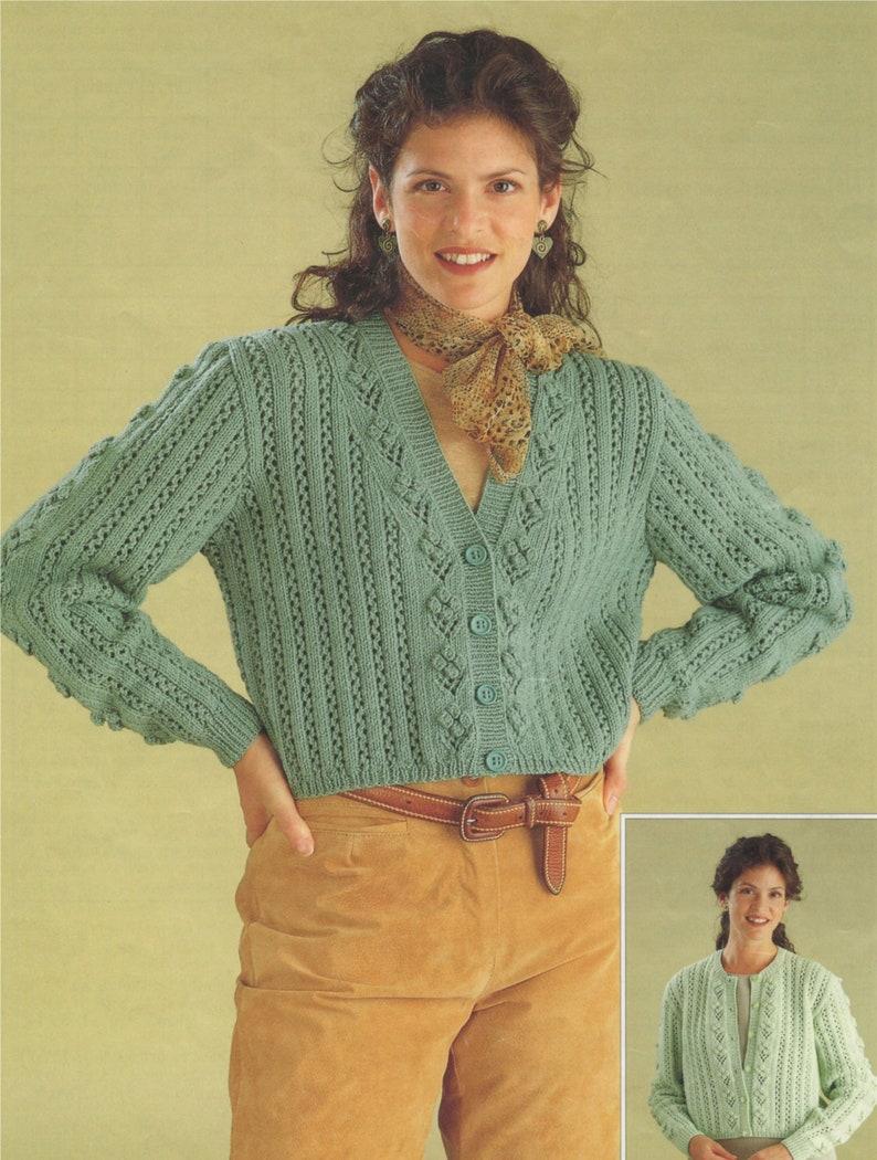 00213cc5ee76 Womens Cardigan Knitting Pattern PDF Ladies 30 32 34 36