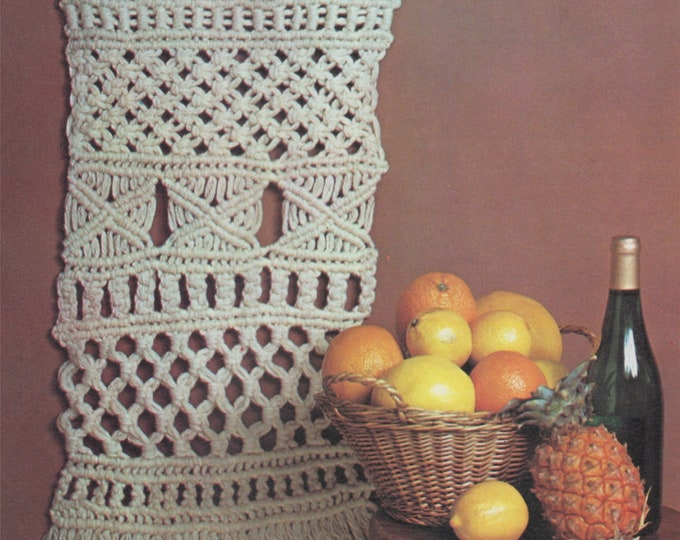 Wall Art Macrame Pattern PDF Wall Hanging Macrame, Knotted Crafts, Vintage Macrame Patterns for the Home, e-pattern Download