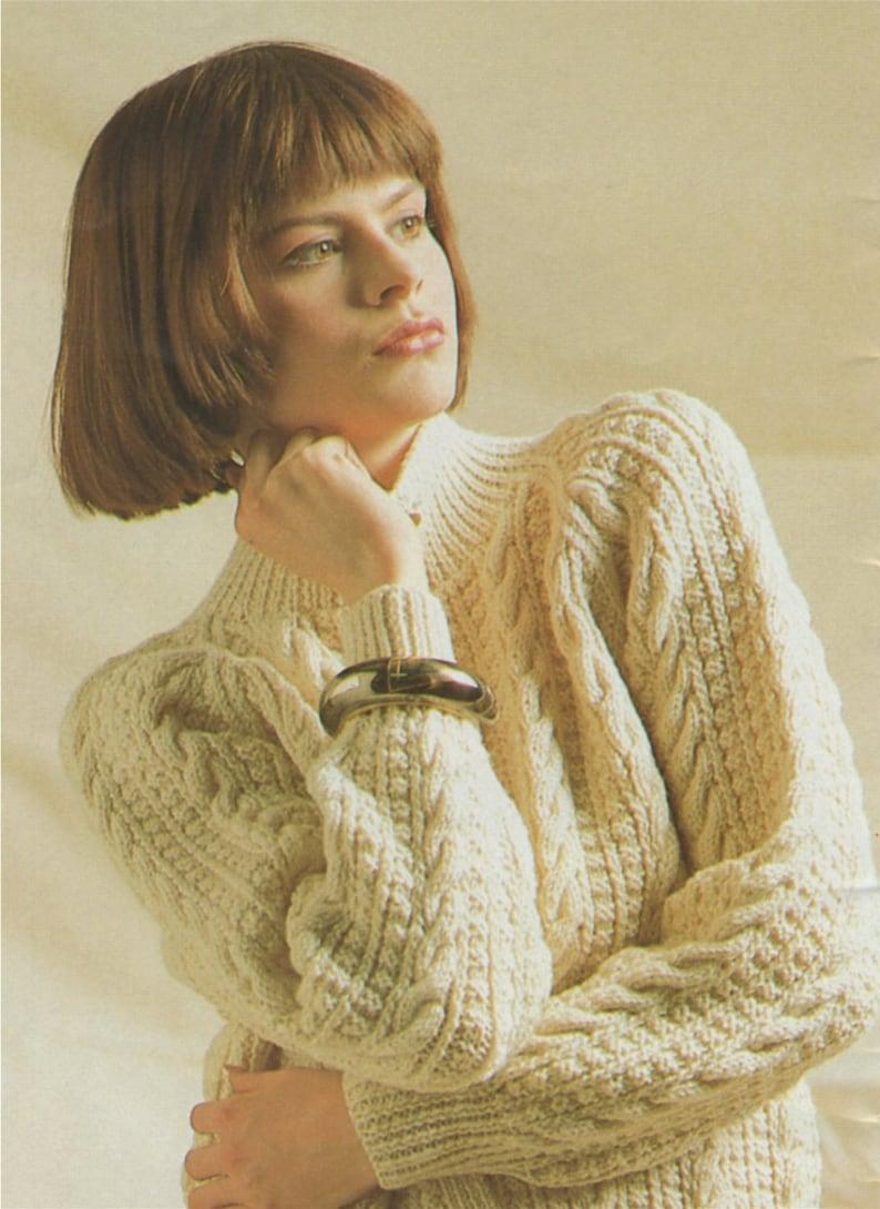 7bae5323b Womens Aran Jacket Knitting Pattern PDF Ladies 30 32 34 36