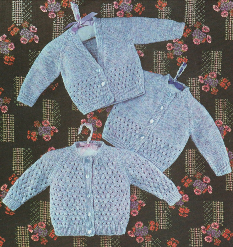 f044a9063e7d Baby Cardigan Knitting Pattern PDF Boys and Girls 18 19 and