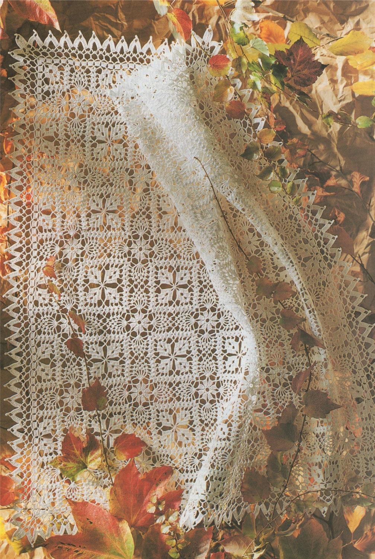 Square Tablecloth Crochet Pattern PDF Square Doily Mat, Small