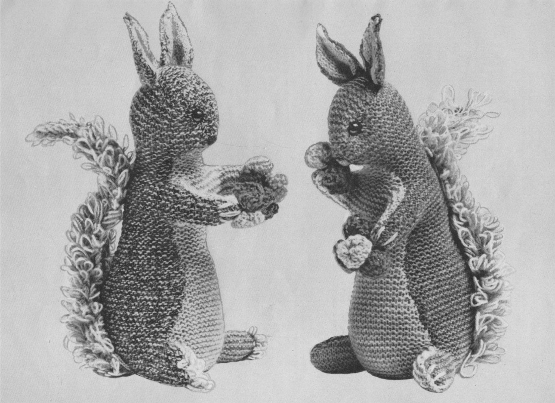 Squirrel Toy Knitting Pattern PDF Wildlife Toy Pattern, Woodland ...