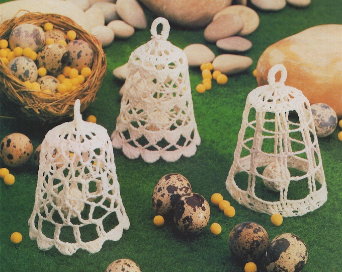 Bell Crochet Pattern PDF Bell Christmas Tree Decorations, Wedding and Christening Momento Gift Pattern, Vintage Crochet Patterns, Download