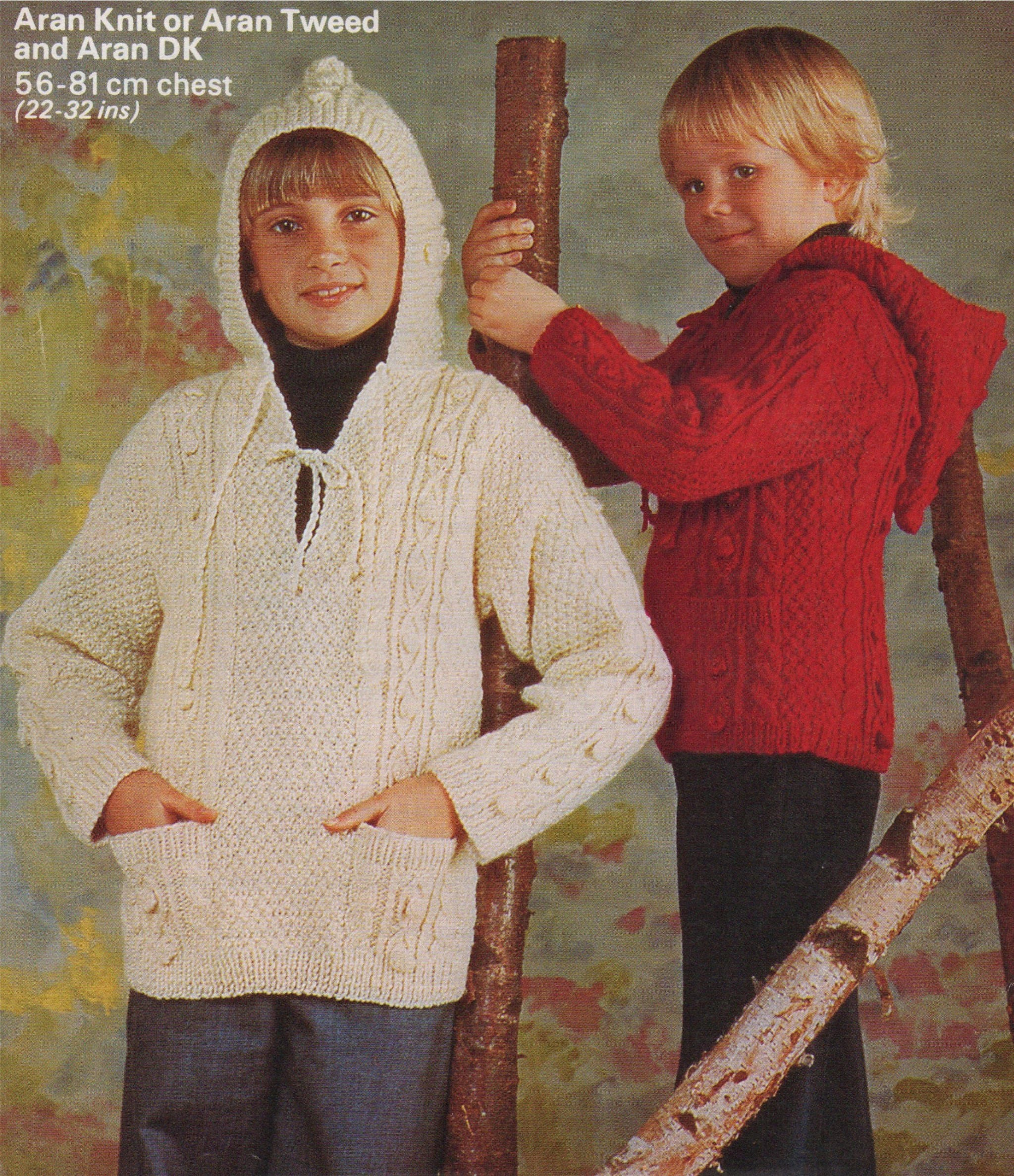 2b4f1996f Aran Hooded Sweater Knitting Pattern PDF Boys or Girls 22