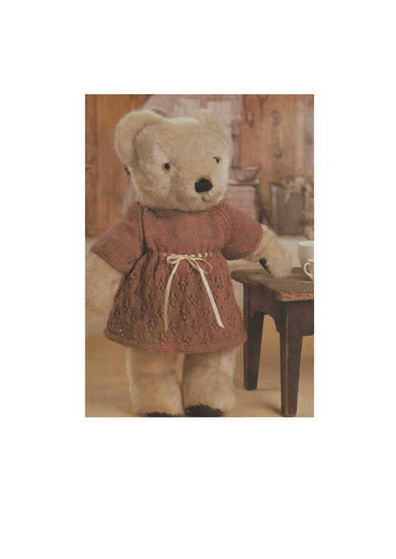 Vintage Knitting PATTERN Fair Isle Sweater /& Pants 18 1950 Teddy Bear Suit