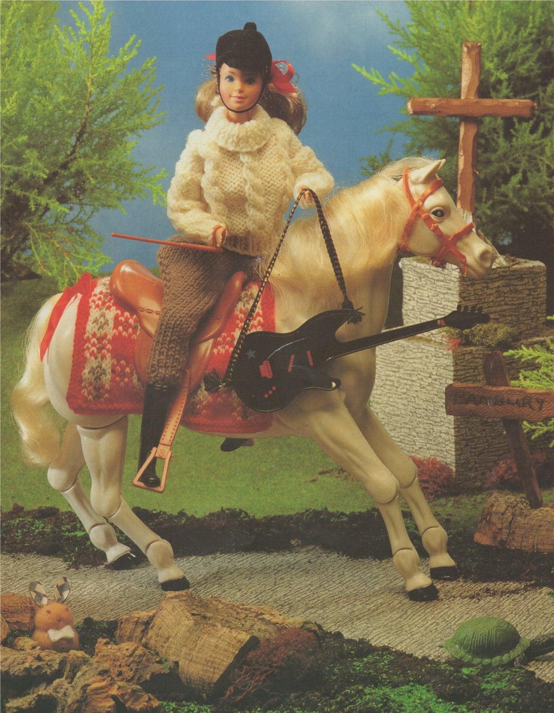 Barbie Horse Riding Dolls Clothes PDF Knitting Pattern : 11 - 12 ...