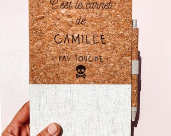 Personalized notebook and pen DELIVERY MONDIAL RELAY