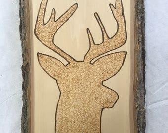 Deer Silhouette Woodburning