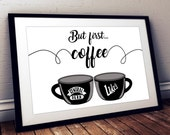 Gilmore Girls Friends But first coffee poster Central Perk Luke 39 s Diner, Valentine 39 s gift coffee Lukes diner Central Perk poster Coffee art