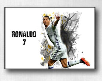 Cristiano Ronaldo Poster Real Madrid Print Home Decor DORM decor House Warming Gift Ronaldo wall art real madrid soccer Ronaldo Birthday