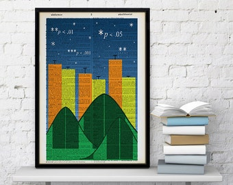 Statistics Dictionary Print P value professor PhD student researcher Ph.D. Master's statistician p-value office decor stats gift nerdy