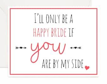 Bridesmaid proposal card, bridal party card, gift for bridal party, Bridesmaid proposal, maid of honor, best friend of the bride, bridesmaid