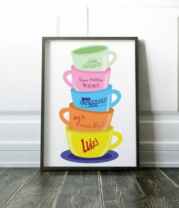 Mom Gilmore Girls Coffee Mugs Poster Luke/'s Diner gift In omnia paratus Stars Hollow Sign Doose/'s Dragonfly Inn birthday gift