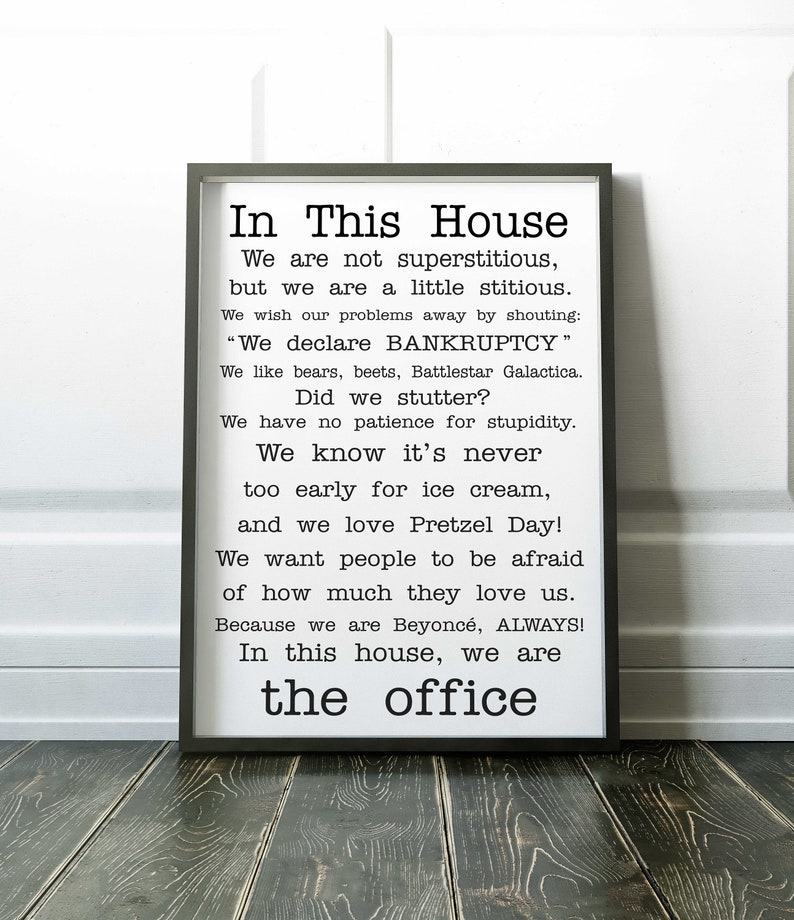 Family Friendly Version Of The Office Quotes Tv Poster The Etsy