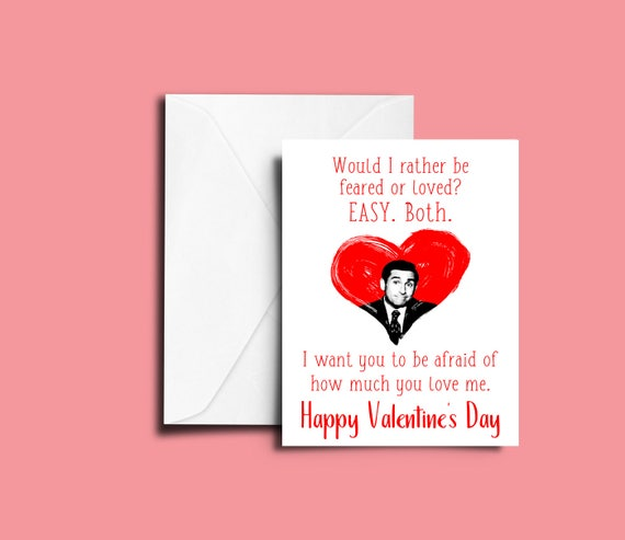 The Office Valentines Day Greeting Card Michael Scott Etsy