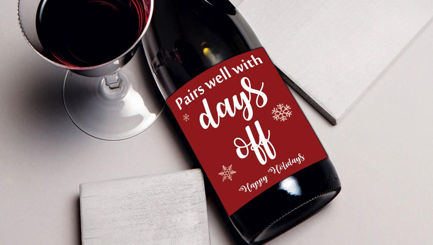 Mitarbeiter Geschenk Wein Etikett Weihnachts-Geschenk für | Etsy