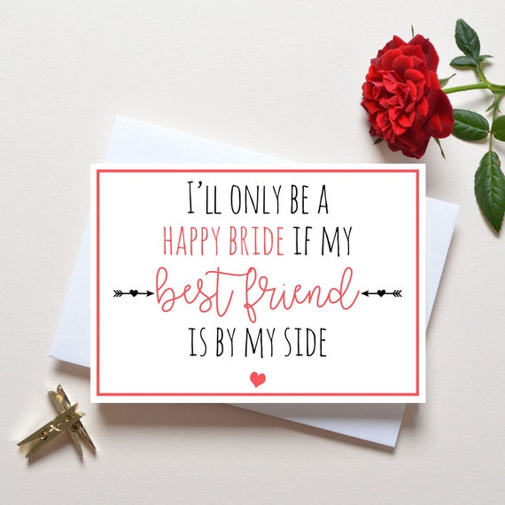 Bridesmaid Proposal Card Best Friend Will You Be My
