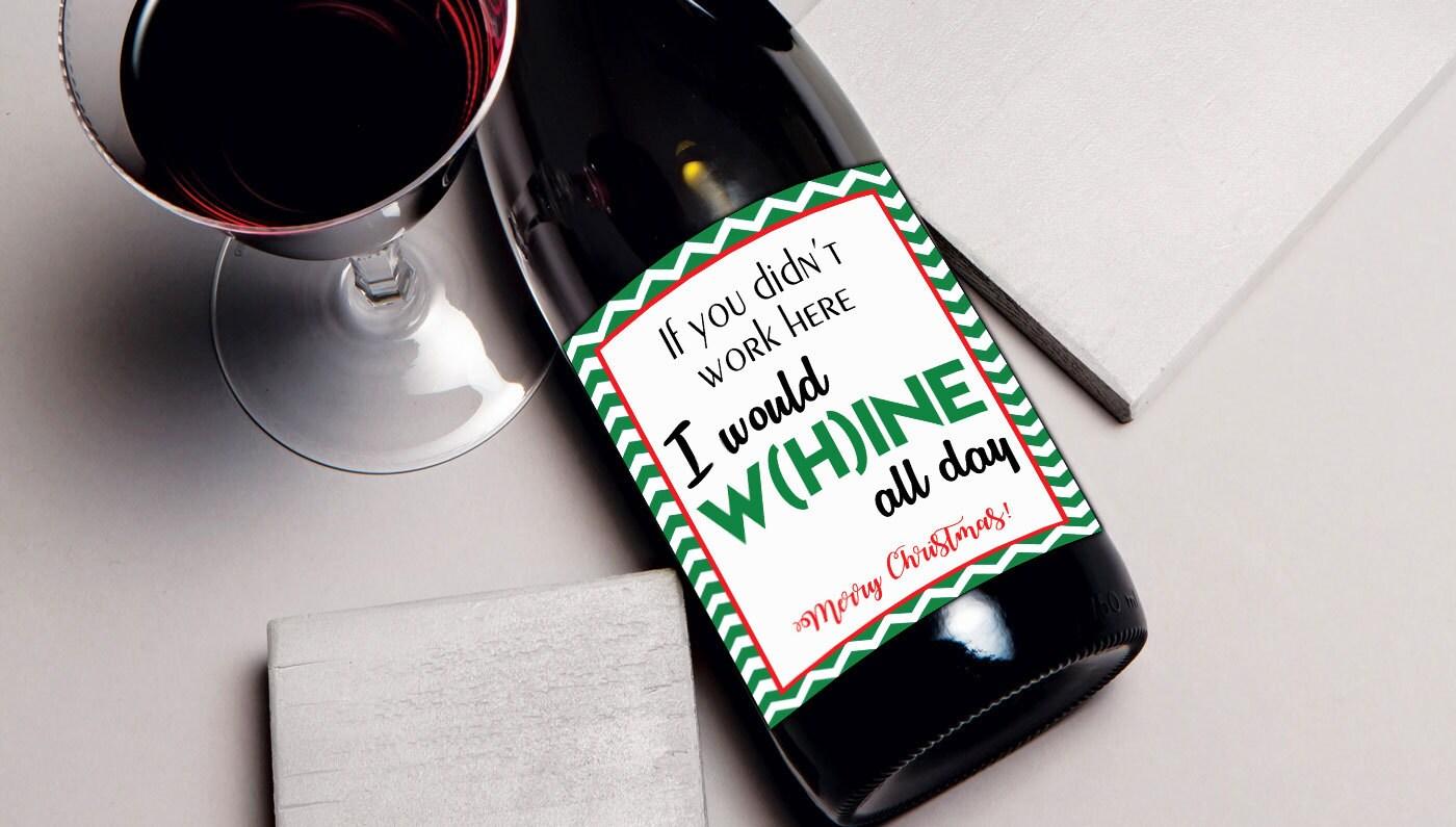Mitarbeiter Weihnachten Geschenk Wein Etikett Geschenk für | Etsy