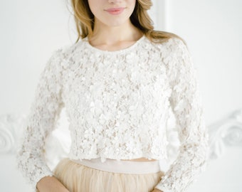 b71eaa28071c3d Ivory Blossom Lace Top