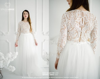 a321501d495f Alice Lux Wedding Lace Dress