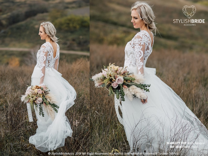59924dfa3143 Scarlett Boho Wedding Dress with Extended Basque New 2019