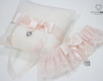 Wedding Garter Lace Pink, Lace Pink Wedding Garter, Bridal Blush Garter, Bridal Garters, Blush Lace Bridal Garter, Lace Bridal Garter