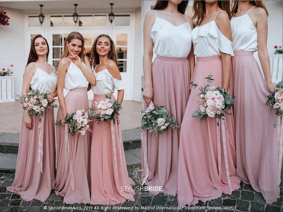 fashionablestyle arrives get new Blush Palette Chiffon Bridesmaid Separates: Chiffon