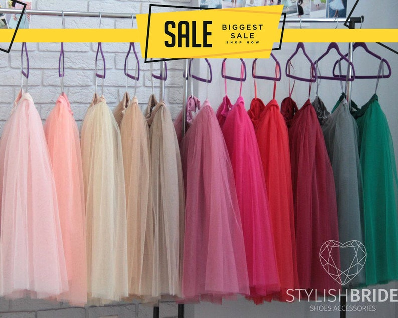 Tulle Skirt 150 Colors Women's Casual Fay Tulle Skirt image 0