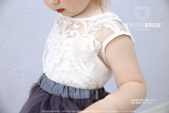 111ff7f527d Allure Little Top for Flower Girl Baby Lace Crop Top