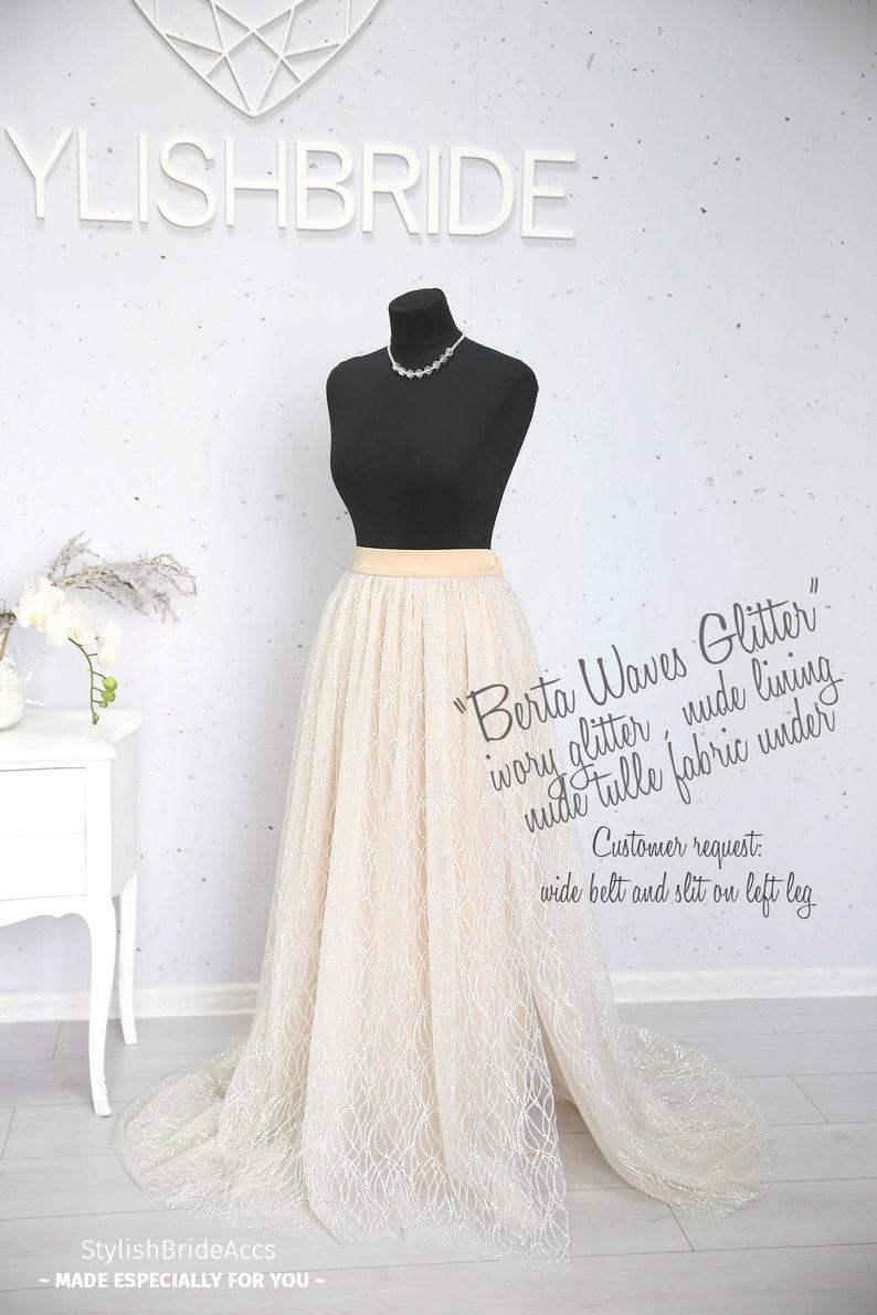 48058ad4 Amazing Sparkle Shimmering Tulle Skirt Bridal Glitter Evening | Etsy