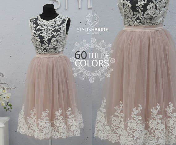 1b66dd418c Tulle Skirt Lace Freesia Crop Top and Tulle skirt long Lace   Etsy