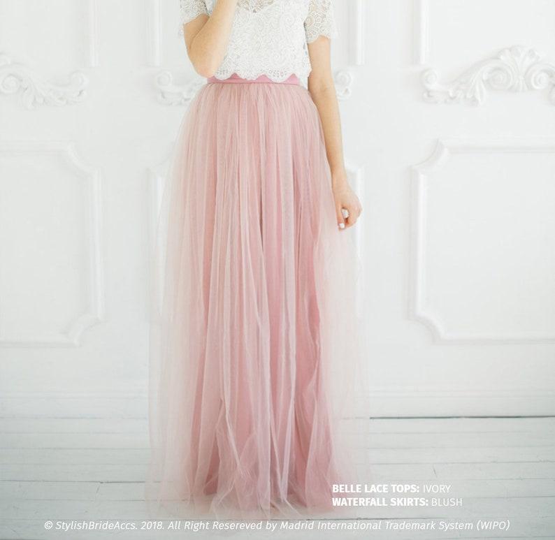 f34f094eb033 Blush 8 Long Tulle Skirt Casual Floor length Women's | Etsy