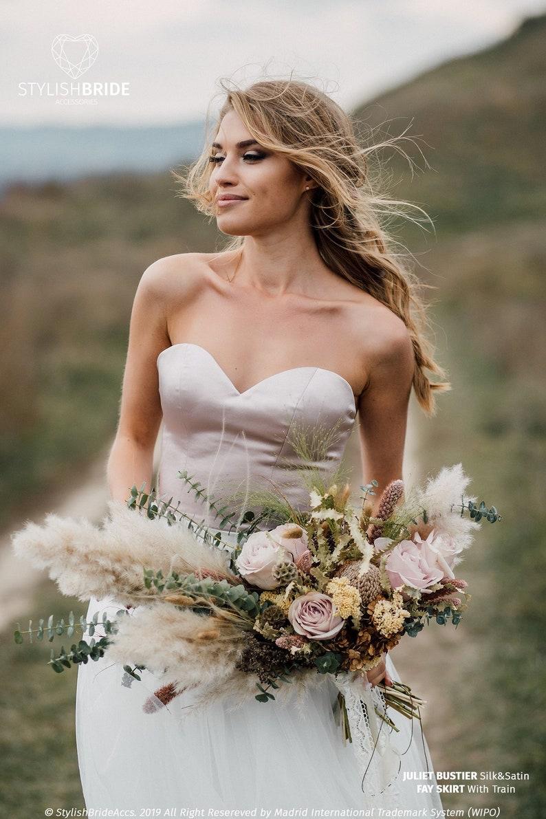 b7600a796b3 Juliet Bustier Silk Satin Silk Corset Plus Size Bridal