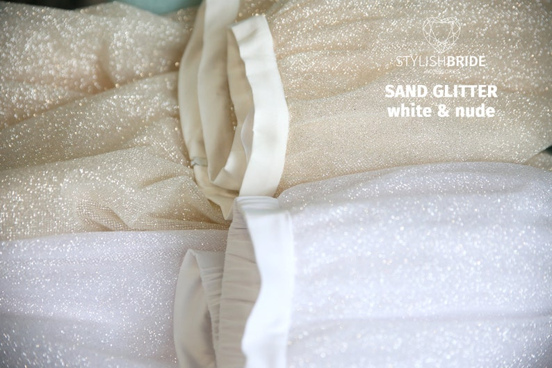 Bridal Glitter Evening Sparkle Wedding Tulle Skirt and Top Glitter Dress Engagement Glitter Bridal Dress Sparkle Glitter Bridal Separates