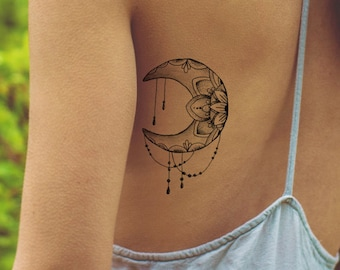 Moon Tattoo Etsy