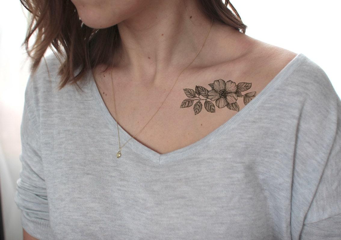 Cerisiers En Fleurs Tatouage Faux Tatouage Temporaire Etsy
