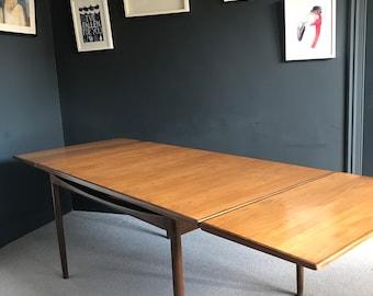 Mid Century Modern Dining Table Etsy - Mid century modern dining table with leaf