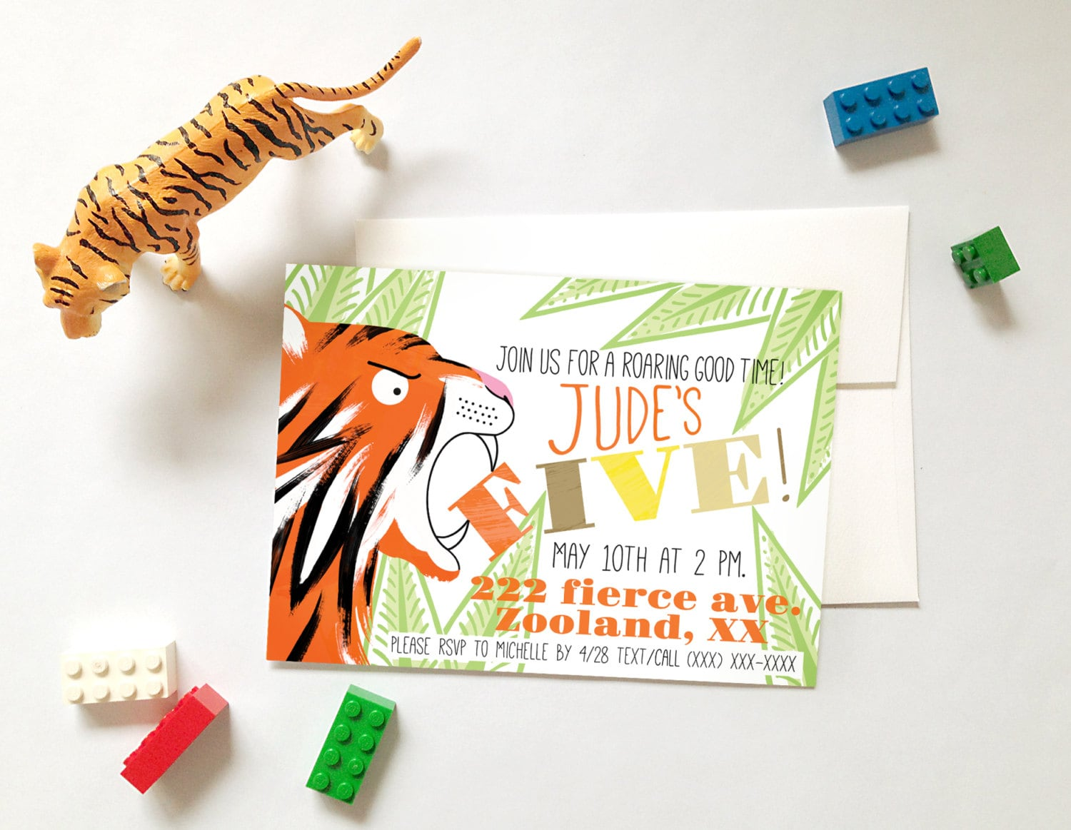 Tiger Birthday Party Printable DIY Invitation | Etsy
