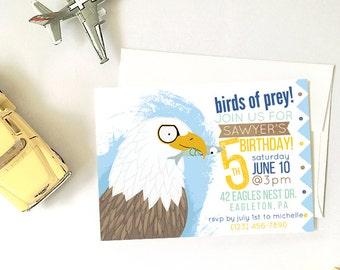 Bald Eagle Birthday Party, Printable DIY Party Invitation