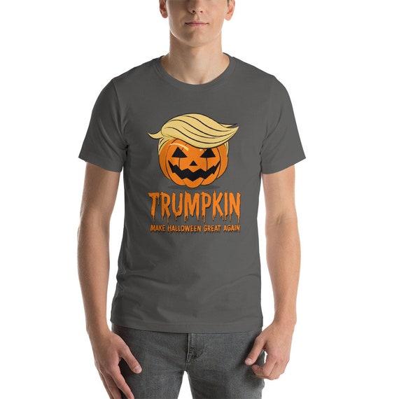 1f4d0c54b0e Trumpkin T Shirt Halloween Pumpkin Donald Trump Funny
