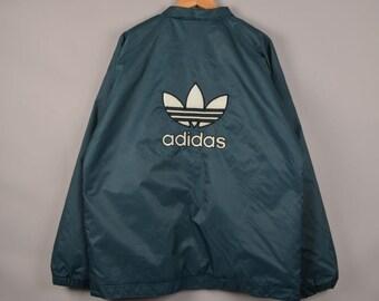 vintage trefoil adidas jacket, vintage adidas sweater, adidas crewneck, adidas windbreaker, adidas vintage,vintage windbreaker,adidas jacket