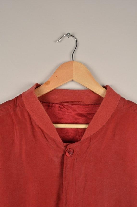 vintage silk bomber jacket, bomber jacket, silk b… - image 5